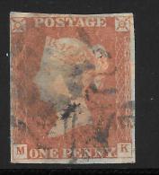Grande-Bretagne (GB) Victoria 1841 - Penny Rouge Planche 36 MK - Used Stamps