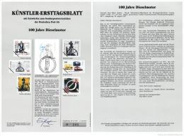 Germany 1997 Mi. 1942 FDC Art Card, Rudolf Diesel, German Inventor Of Diesel Engine, Mechanical Engineer - Autos