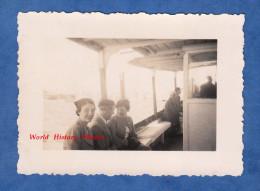 Photo Ancienne - Vers PORT SAID - à Bord D'une Vedettes Des Messageries Maritimes - M. Moronval Et Mme Diguet - 1936 - Bateaux