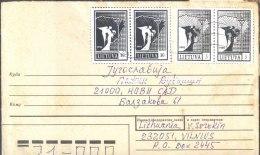 "Lithuania  - LIETUVA - USSR COVER - ERROR  "" STAMPS  PHOTOCOPIES "" - VILNIUS - 1990 - Lithuania"