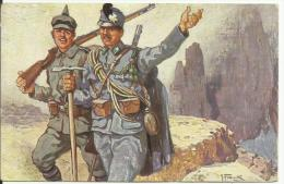 Cpa Patriotique  Autrichien Et Allemand    Guerre 1914 1918 - Guerre 1914-18