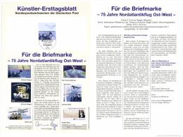 Germany 2003 Mi. 2331 FDC Art Card, East-West Transatlantic Flight By Loose Köhl Von Hünefeld In Junkers W33 - Airplanes