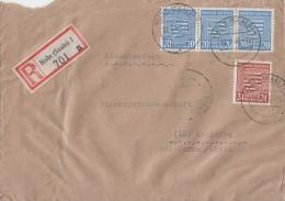 Provinz Sachsen R-Brief Mif Minr.3x 81, 82Halle 18.3.46 - Sowjetische Zone (SBZ)