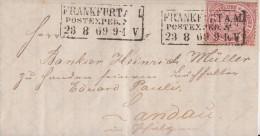 NDP Brief EF Minr.21 R3 Frankfurt 23.8.69 - Norddeutscher Postbezirk