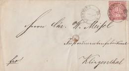 NDP Brief EF Minr.4 Nachv. Stempel Lössnitz 1.10.68 Gel. Nach Klingenthal - Norddeutscher Postbezirk