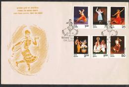 INDIEN -FDC   Mi.Nr.   646 - 651  - Indische Tänze - FDC