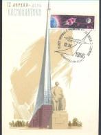 Russia CCCP 1966 Maximum Card: Space Weltraum: Yuri Gagarin 5th Anniversary Of First Flight; Vostok 1; - FDC & Commemoratives
