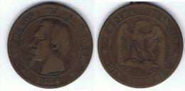 FRANCIA NAPOLEON III 10 CENTIMES 1854 A BC - Francia