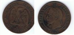 FRANCIA NAPOLEON III 10 CENTIMES 1862 K - Francia