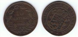 LUXEMBURGO 10 CENTIMOS 1865 A MBC - Luxemburgo
