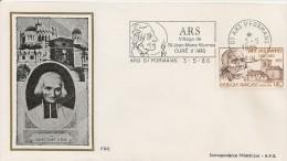 France - Enveloppe 1er Jour - Saint Curé D'Ars - 1986 - Ars Sur Formans - YT 2418 - 1980-1989