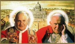 POPE JOHN XXIII And JOHN PAUL II ( Kroatien Holy Card ) Pape Papst Papa Paus Karol Wojtyla Jean Juan Pablo Papa Giovanni - Devotion Images