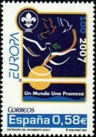 España 2007 Edifil 4322 Sello ** Europa Logo Y Lema Un Mundo, Una Promesa 0,58€ Spain Stamps Timbre Espagne Briefmarke - 1931-Hoy: 2ª República - ... Juan Carlos I