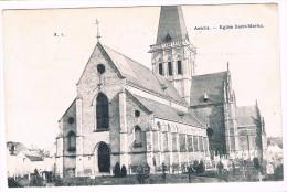 Assche, Eglise Saint-Martin, circul�e en 1907 - 2 scans