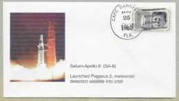 SATURN-APOLLO 8 (SA8) - LAUNCHED  PEGASUS 2 -   METEOROID  DETECTION  SATELLITE - Briefe U. Dokumente