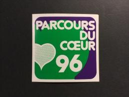 PARCOURS DU CŒUR 1996 - Autocollant Publicitaire - Thème Sport - Autocollants