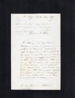 VP1620 - LA  PUYE -   LAS Du Père De ROCHEMONTEIX  à Mr Le Maire De THURE - Autographs