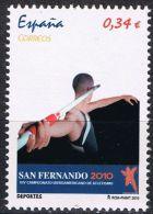 España 2010 Edifil 4569 Sello ** Deportes San Fernando Cadiz XIV Campeonato Iberoamericano De Atletismo Lanzador Jabalin - 2001-10 Neufs