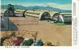 Hiroshima Japan, Atomic Bomb Casualty Commision Buildings On Mt. Hijiyama, C1950s Vintage Postcard - Hiroshima