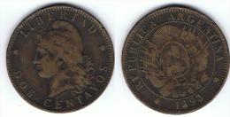 ARGENTINA 2 CENTAVOS 1893 B - Argentina