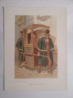 PORTO OLD ORIGINAL LITHO ANTIQUE PRINT Rare GRAVURA 1900-1910YEARS  OPORTO  A CADEIRINHA PORTUGAL  31 Cm X 24 Cm - Vieux Papiers