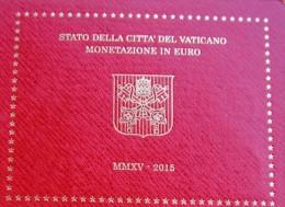 VATICANO Vatican City Vatikan Divisionale Blister Coffret KSM EUR FDC BU UNC 2015 Papa Pope Francesco Francis Franciscus - Vaticano (Ciudad Del)