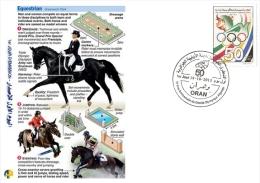 ALG Algeria N° 1666 Olympic Games Algerian Olympic Committee Equestrian Horses - Summer 2012: London