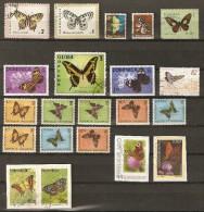 Lot  Papillons (Lot JP) - Schmetterlinge