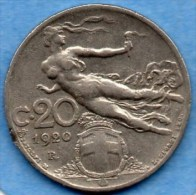R2/ ITALIE ITALY  20 CENTS 1920 - 1861-1946 : Royaume