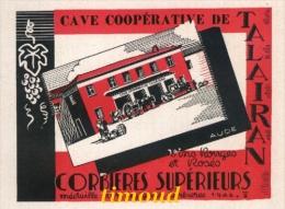 CAVE COOPERATIVE  / CORBIERES  / TALAIRAN  / AUDE / PUB 1947 - Vieux Papiers