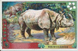 CHROMO , PHOSCAO , Exquis Déjeuner , Le Rhinocéros - Chromos
