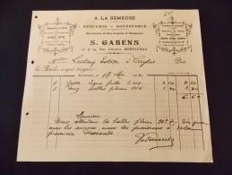 Montauban S Gabens A La Semeuse Mercerie Bonneterie Allumettes De L'etat Papiers Cigarettes Parfumerie Ganterie 1912 - Textile & Clothing