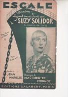 Escale De Suzy Solidor - Partitions Musicales Anciennes