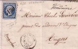 LOIR ET CHER - VENDOME - N°14 OBLITERATION GC4130 - LE 7 JANVIER 1863 (GC SUR N°14). - 1849-1876: Période Classique