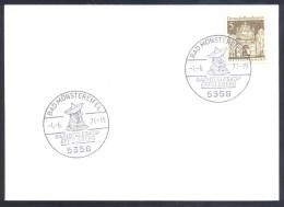 Germany Deutschland 1971 Card: Space Weltraum: Ratioteleskop Effelsberg Cancellation - FDC & Gedenkmarken