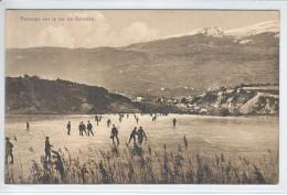 PATINAGE SUR LE LAC DE GERONDE -ANIMEE - 2.02.1927 - VS Valais