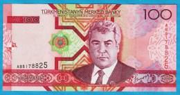 TURKMENISTAN 100 Manat 2005 Serie AB  President Saparmurat Niyazov  P# 18 - Turkmenistan