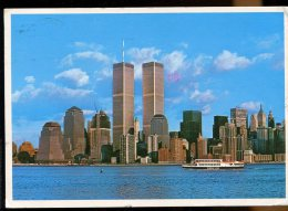CPM Etats Unis NEW YORK CITY Waterfront View Of Lower Manhattan Skyscrapers - World Trade Center