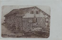 Litho Stich Zeichnung AK Hütte Halter Breitenfeld Halterhütte ? Schöckl ? Falkert ? Preber ? - Zu Identifizieren