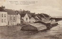 89 PONT-sur-YONNE  Inondations Du 21 Au 27 Janvier 1910 Quai De Vères Et Le Buttes - Pont Sur Yonne