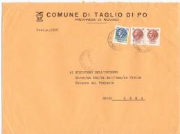 COMUNE DI TAGLIO DI PO  - 45019 - PROV ROVIGO - LS - 1980 - FTO 18X24 - TEMATICA TOPIC STORIA COMUNI D´ITALIA - Affrancature Meccaniche Rosse (EMA)