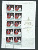 Australia 2011 Prince William Royal Wedding Single In Sheetlet Of 10 With Special Border MNH - Mint Stamps