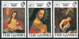 Gambie Gambia 1980 Yvertn° 416-18 *** MNH Cote 15 FF Noël Kerstmis Christmas - Gambie (1965-...)