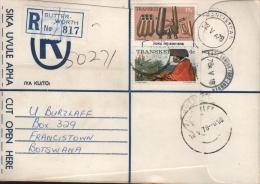 TRANSKEI - REGISTERED LETTER 1978 BUTTERWORTH -> FRANCISTOWN/BOTSWANA - Transkei