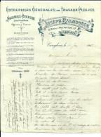 CUREGHEM  JOSEPH RAEMDONCK  Entreprises Generales De TRAVAUX PUBLICS  Maconnerie Menuiserie ... 16.06.1915 - Bélgica