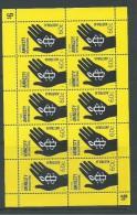 Australia 2011 Amnesty Single X 10  In Sheetlet Form MNH - Mint Stamps