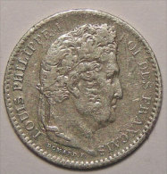 Monnaie fran�aise, Louis-Philippe I, 25 Centimes 1845 B Rouen, TB+, Gadoury 357