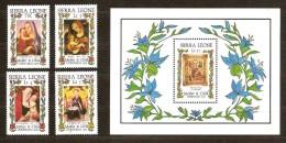 Kerstmis Noël Christmas 1985 Sierra Leone Yvertnr. 679-82 Et Bloc 40 *** MNH Cote 85 FF - Sierra Leone (1961-...)