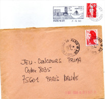 Paris 15 Air: Flamme Et Timbre à Date - Poststempel (Briefe)