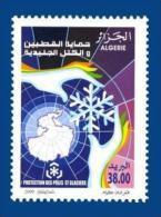 Algérie Algeria Protection Des Poles Et Glaciers Polar Poles Protection Carte Map Main Hand 2009 - Preservare Le Regioni Polari E Ghiacciai